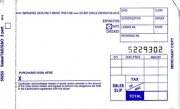 100 Sales Slips for Imprinter (3 copy Short) 3-part-compact