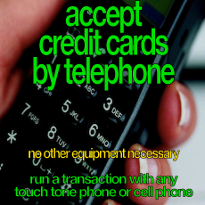 accept credit cards by telephone phone touch tone
