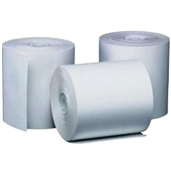 Single 50' foot Thermal Paper Receipt Roll for Contactless Vx520 - Click Image to Close
